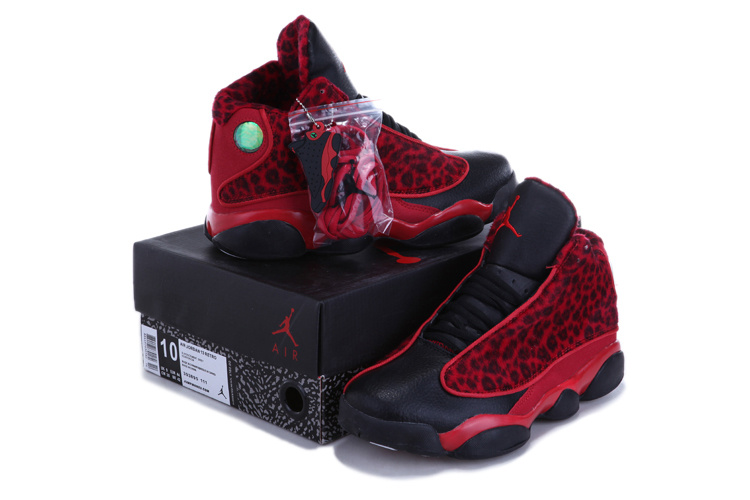 wholesale dealer 71f2d 72507 Authentic 2013 Air Jordan 13 Leopard Print Black Red Shoes