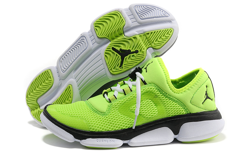 2013 Jordan Running Shoes Green Black White