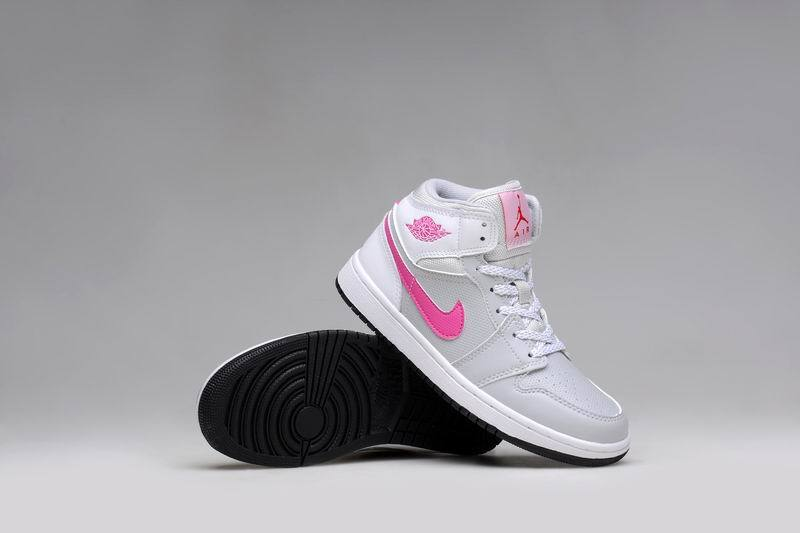quality design 05617 ce6c2 2015 Air Jordan 1 GS Grey Pink White