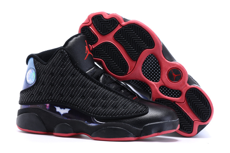2015 Air Jordan 13 Custom Batman v Superman Dawn of Justice Black Red