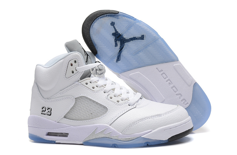2015 Air Jordan 5 White Metallic Silver