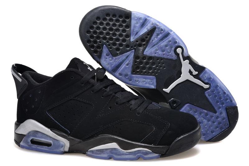 2015 Air Jordan 6 Low Black Metallic Silver