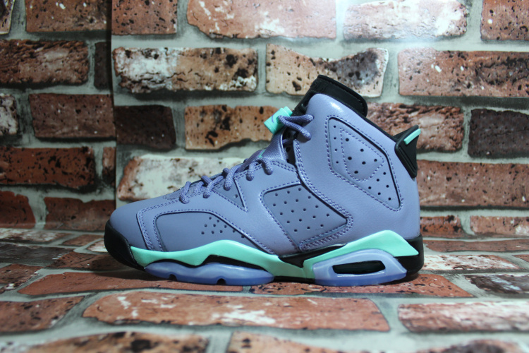New Air Jordan Retro 6 GS Grey Green
