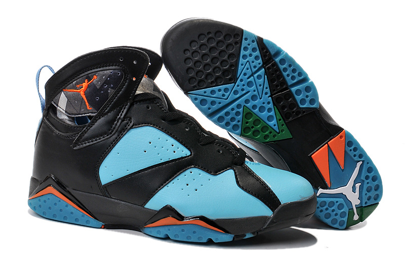 buy popular 06769 225ea 2015 Air Jordan 7 Black Blue Orange Shoes