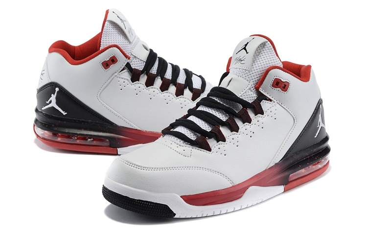 Cheap 2015 Real Jordan Flight Original White Black Red White Jumpman