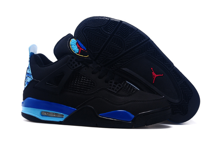 Real 2015 Black Blue Red Air Jordan 4 And Shoes