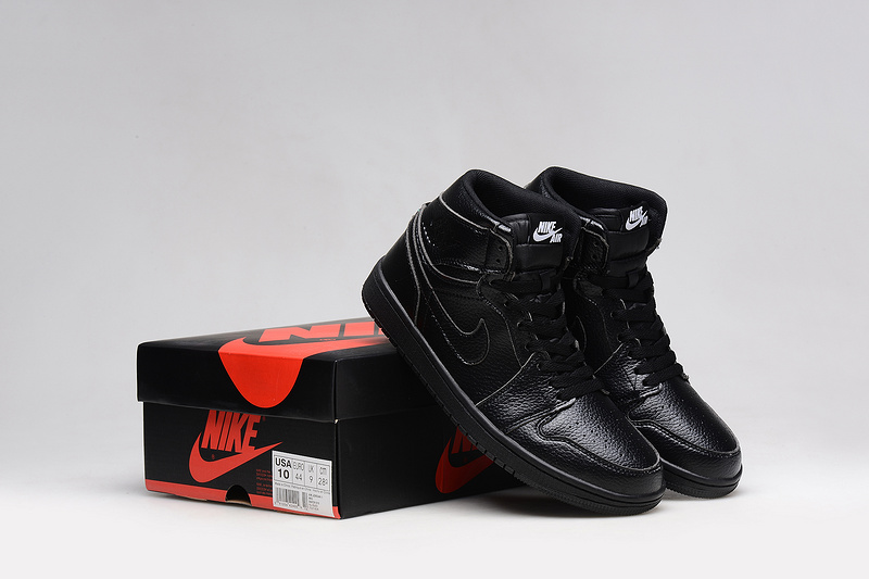 Cheap Real 2015 Air Jordan 1 All Black Shoes