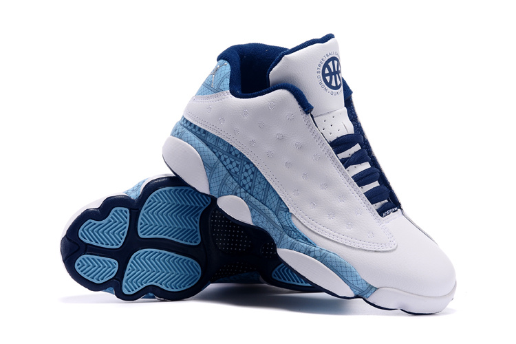 Cheap New Air Jordan 13 Low White Blue Shoes