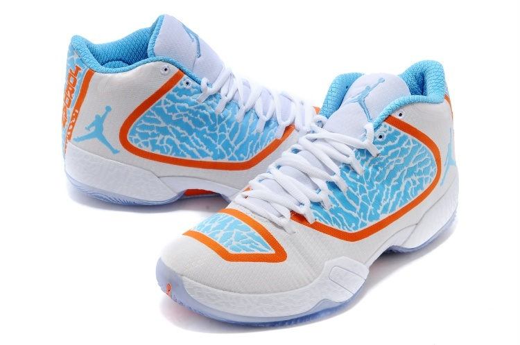 Cheap 2015 Air Jordan 29 White Blue Orange Shoes
