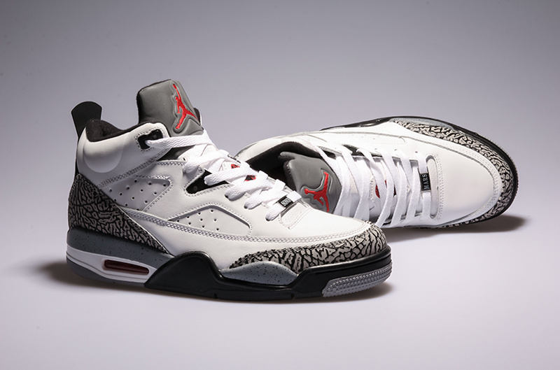 Cheap New Air Jordan Spizike White Grey Shoes