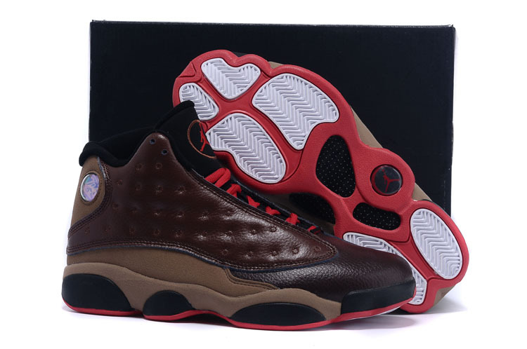 Real 2015 Air Jordan 13 Retro Wine Red Black Shoes