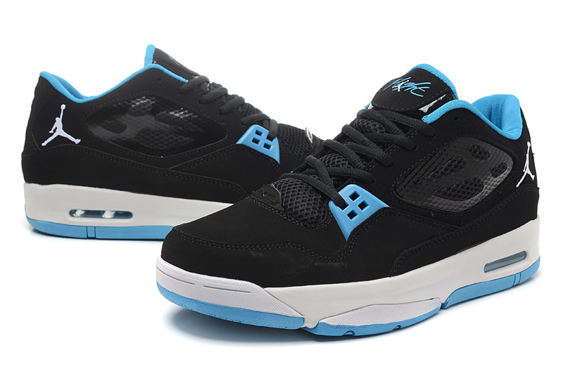 2015 Air Air Jordan Flight 23 RST Low Black Baby Blue Shoes