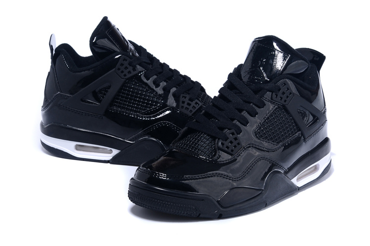 2015 Air Jordan 4 Black White Shoes
