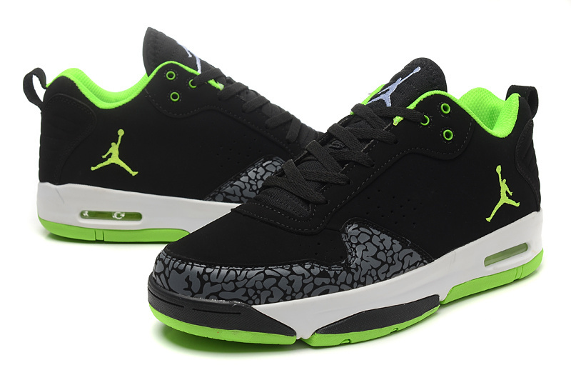 2015 Air Jordan Cement Black Green White Shoes