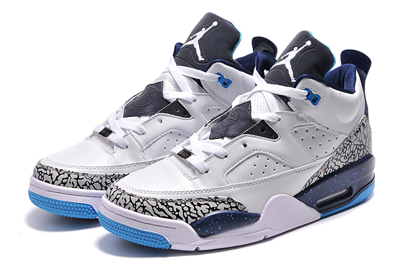 2015 White Blue Jordan Son of Mars Low Shoes
