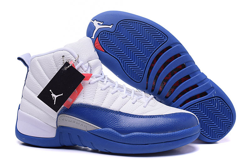 2016 Air Jordan 12 French Blue White French Blue Metallic Silver Varsity Red