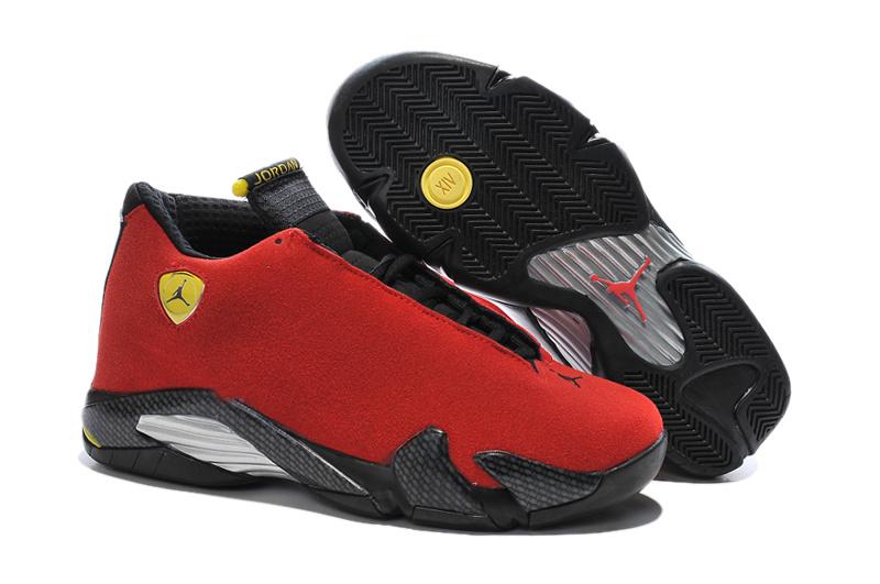 802731065ccb 2016 Air Jordan 14 Ferrari Chilling Red Black Vibrant Yellow