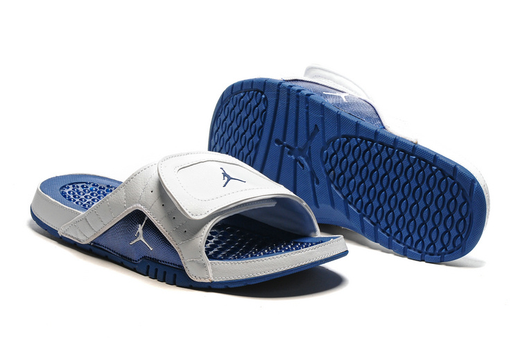 2016 Air Jordan Hydro 12 Slide Sandals Blue White