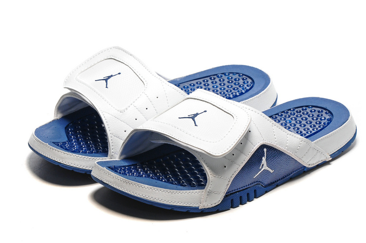 2016 Air Jordan Hydro 13 Slide Sandals Blue White