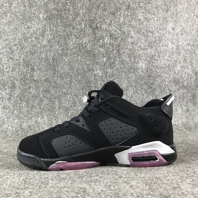 2017 Jordan 6 Low Sun Blush Black Pink Shoes