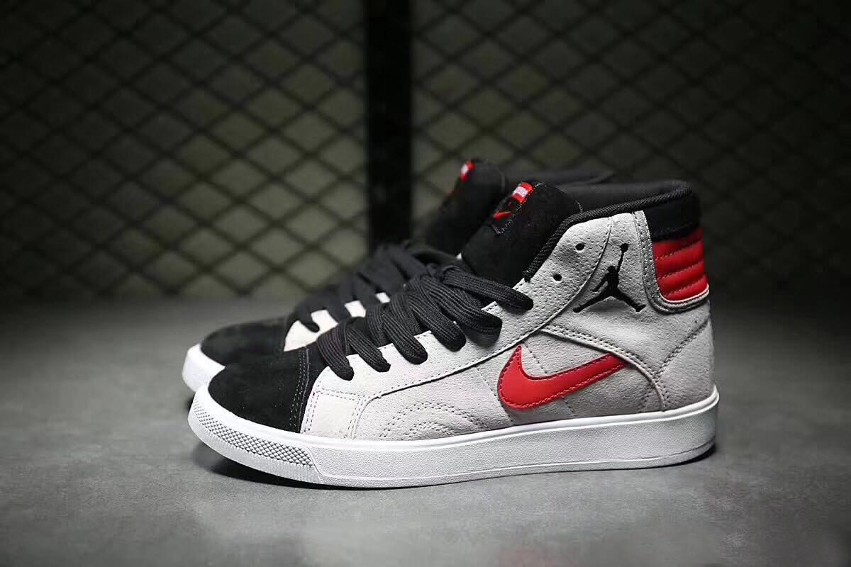 2017 Women Air Jordan 1 New Year Grey Red Black Shoes