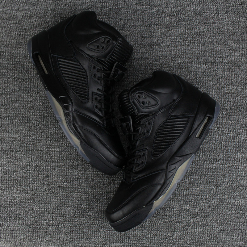 2017 Men Air Jordan 5 Retro All Black Shoes