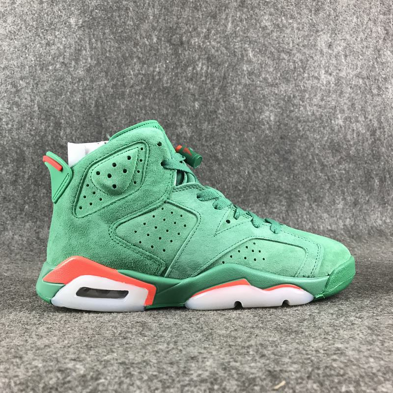2017 Men Air Jordan 6 Retro Grass Green Red Shoes
