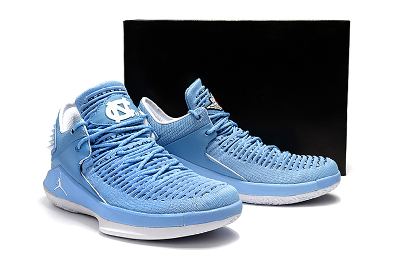2017 Men Air Jordan XXXII Low Light Blue White Shoes