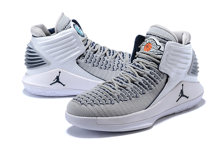 2017 Men Jordan 32 Grey White Shoes