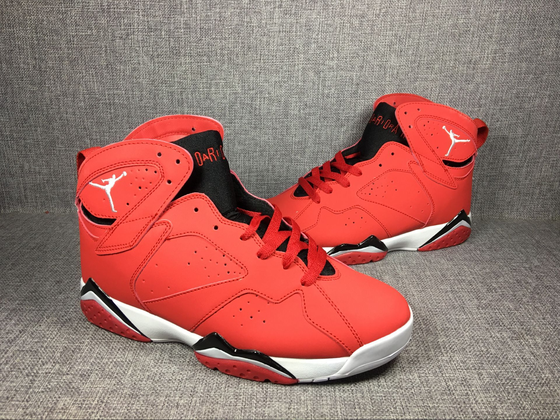 pretty nice 76fbb fc0ba 2017 Men Air Jordan 7 Red Black White Shoes