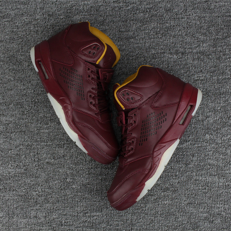 2017 Men Air Jordan 5 Wine Red Shoes