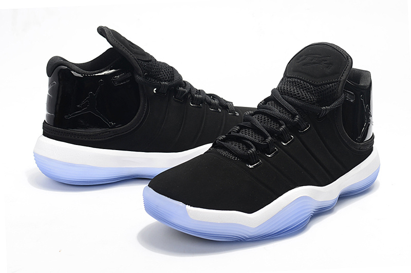 2017 Men Jordan Super Fly 6 Black White Blue Shoes