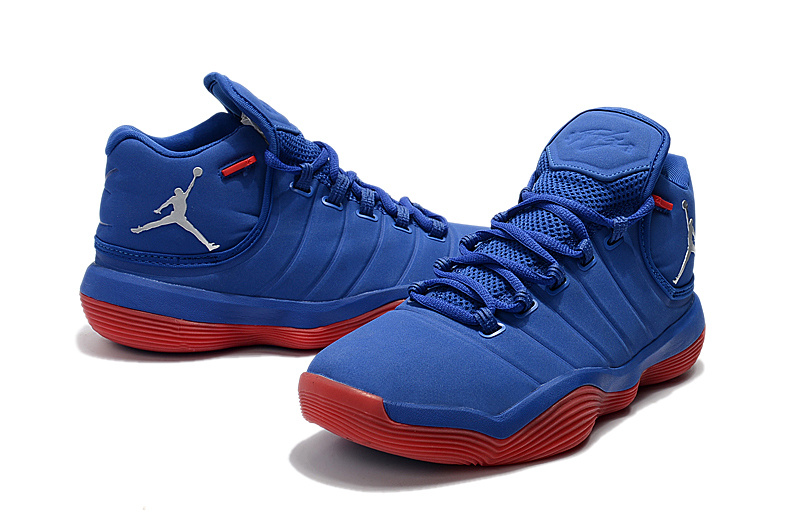 2017 Men Jordan Super Fly 6 Blue Red Shoes