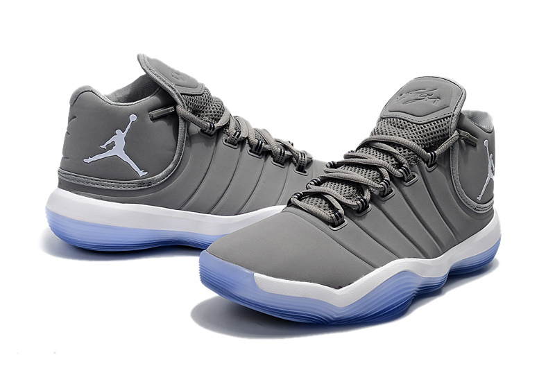 2017 Men Jordan Super Fly 6 Grey Blue Shoes