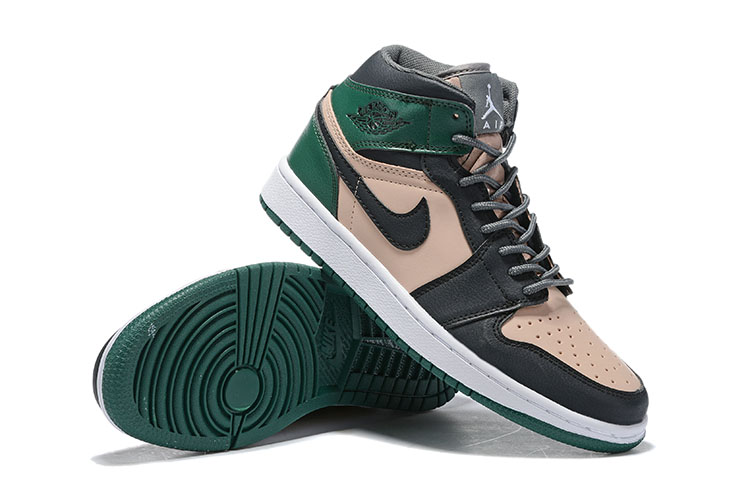 Real 2019 Air Jordan 1 Black Brown Green