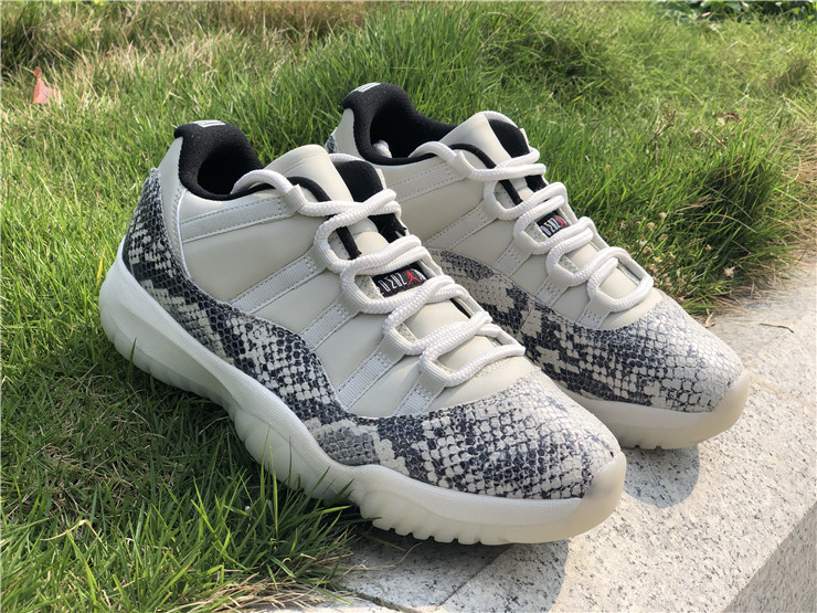 2019 Air Jordan 11 Low SE Snakeskin Light Bone New