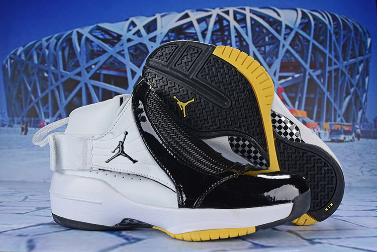 2019 Air Jordan 19 White Black Yellow Shoes