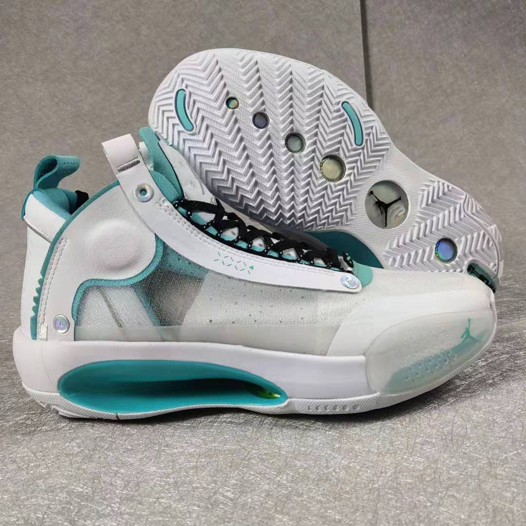 Jordan 34 White Jade Blue Black