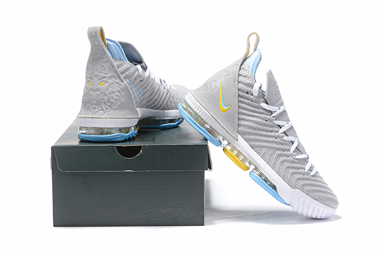 Nike Lebron 16 Grey White Yellow Jade