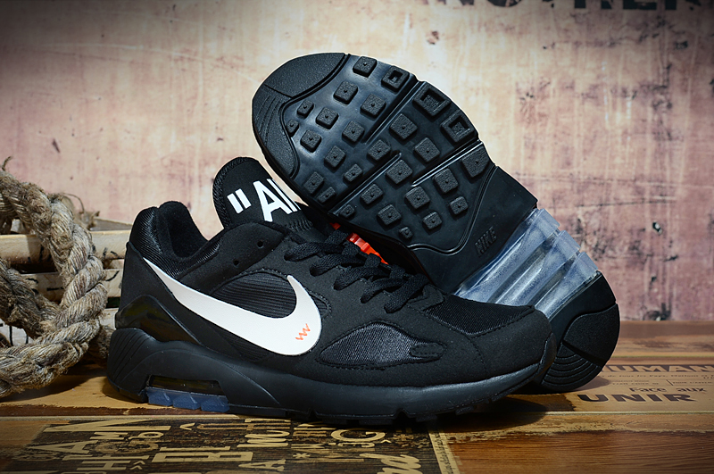 2019 Nike Air Max 180 Black White Shoes
