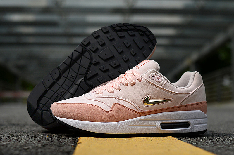 2019 Nike Air Max 90 Light Pink Gold Shoes