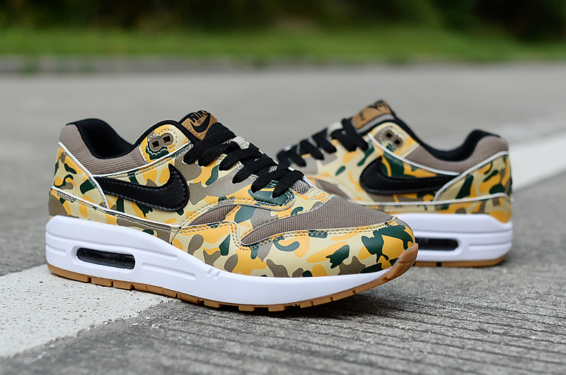 2019 Nike Air Max 90 Yellow Brown Black Shoes