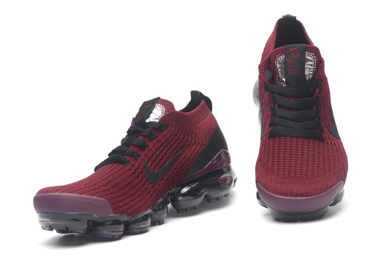 Real Nike Air VaporMax Flyknit 3.0 Wine Red Black