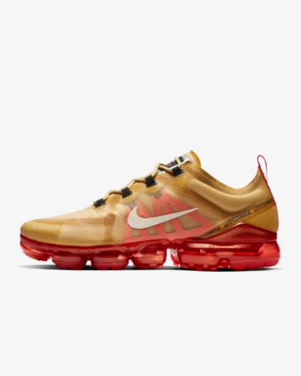 Real Nike Air VaporMax 2019 Gold Red