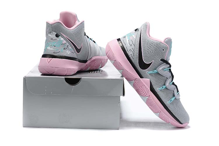 New Nike Kyrie 5 Grey Black Pink