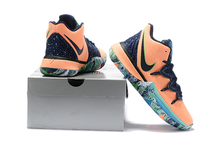 New Nike Kyrie 5 Orange Blue Black