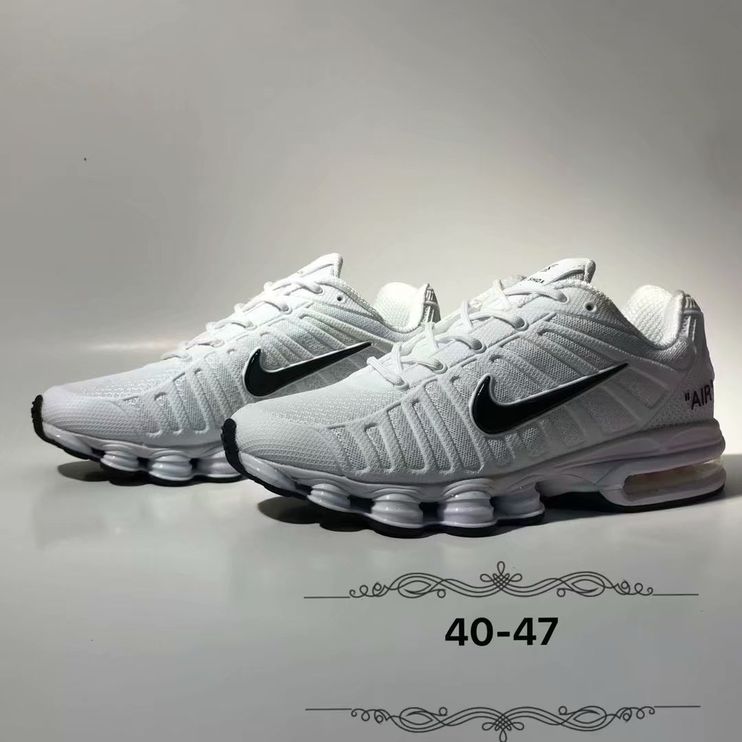2019 Nike Shox White Black Shoes