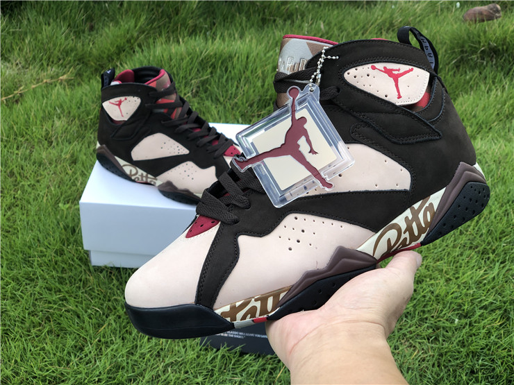 2019 Patta x Air Jordan 7 OG SP Shimmer Tough Red-Velvet Brown