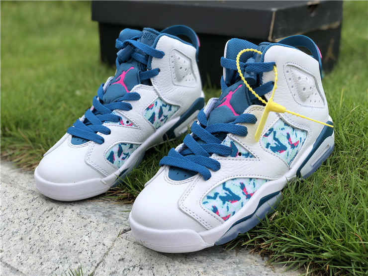 2019 Women Air Jordan 6 Retro GS Green Abyss Shoes