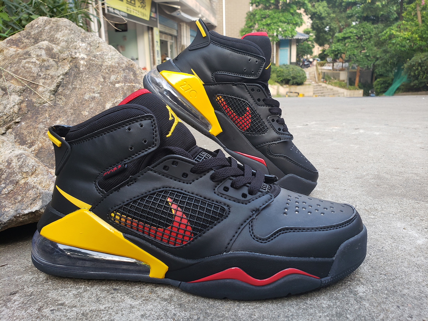 2019 Jordan Max 270 Black Red Yellow Shoes